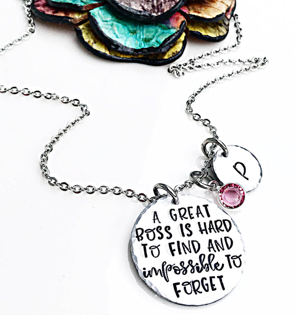 Boss Gifts, Necklace for Boss, Favorite Boss, Boss Lady Necklace - Lasting Impressions CT