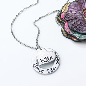 Hand Stamped Personalized Memorial Necklace - Lasting Impressions CT