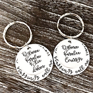 My Blessings Grandmother Keychain - Lasting Impressions CT