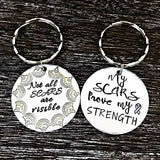 Not All Scars Are Visible Custom Handmade Keychain - Lasting Impressions CT