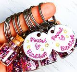 Bitchdust Sparkle Bottle handmade keychain