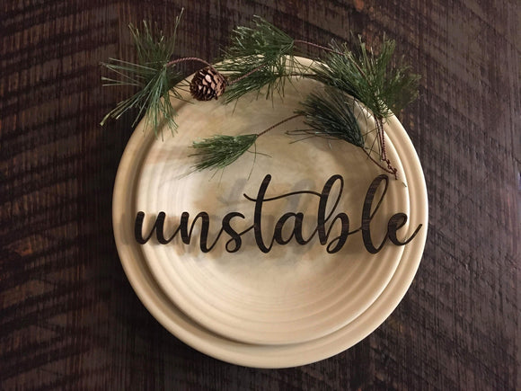 "Wholesale | 1 piece | 1/8"" Baltic Birch Name and Word Place Settings"