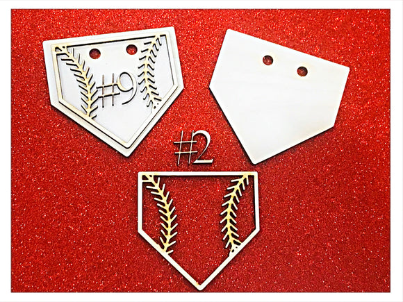 1 set | Baseball Diamond DIY Wood Hangar