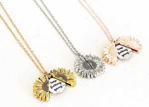 PREORDER Keep Fucking Going Sunflower Hidden Locket Necklace - Lasting Impressions CT
