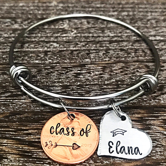 2019 Graduation Bracelet, Graduation Gifts for Girls, Graduation Jewelry, Grad Bracelet, Class of 2019 - Lasting Impressions CT