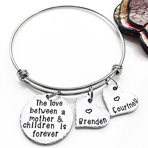 The Love Between Bangle Charm Bracelet for Mom - Lasting Impressions CT