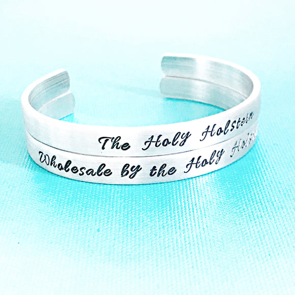 You Business Name on a Hand Stamped Cuff Bracelet - Brand Yourself! - Lasting Impressions CT