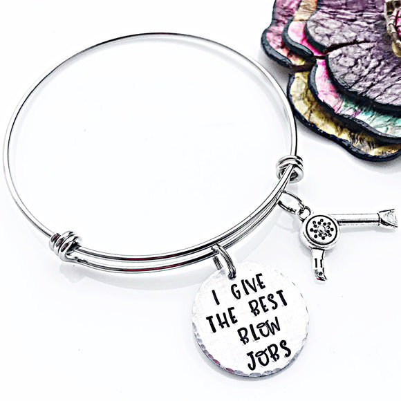 Hairdresser Bangle, Hairdresser Gift - Lasting Impressions CT