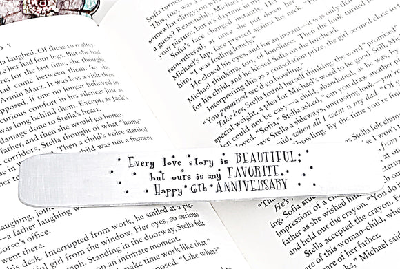 Handstamped Bookmark, Custom Bookmark, Teacher Gifts, Name Bookmark