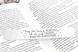 Handstamped Bookmark, Custom Bookmark, Teacher Gifts, Name Bookmark - Lasting Impressions CT
