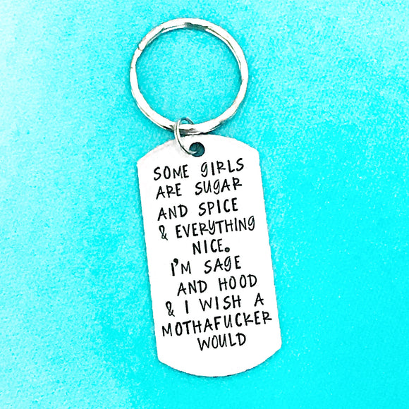 Just the best little keychain you'll ever need in your life - sugar and spice