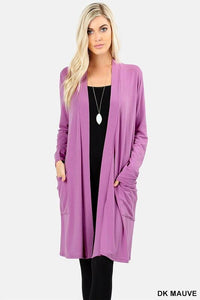Long Open Front Long Sleeve Cardigan - Lasting Impressions CT