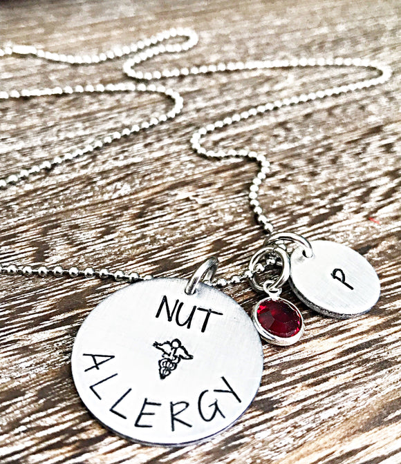 Nut Allergy Kids Necklace - Allergy Necklace for Children - Custom Allergy Jewelry