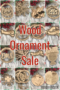 Sale - Wood Ornaments