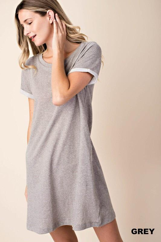 French Terry Shift Dress - Lasting Impressions CT