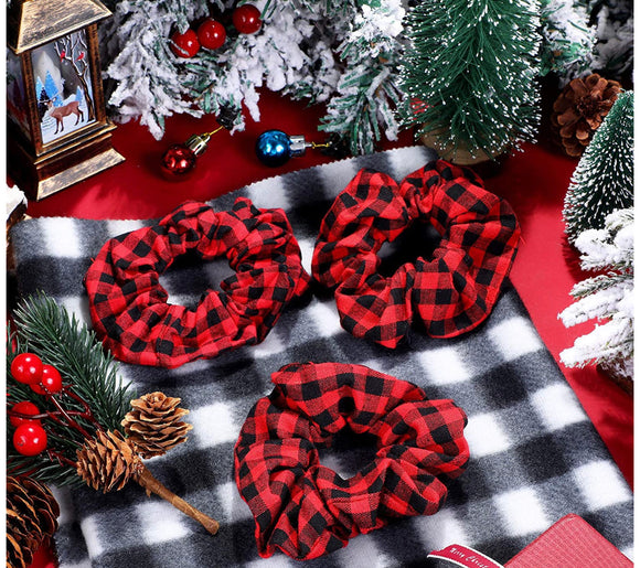 WHOLESALE | 1 piece | Buffalo Plaid Scrunchie