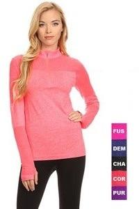 Marled Stretch Knit Athletic Pullover - Lasting Impressions CT