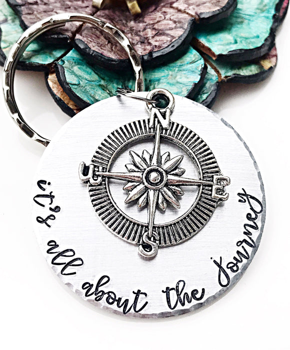 It's All About the Journey Keychain - Lasting Impressions CT