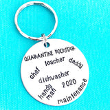 Quarantine Rockstar Keychain for Dad Fathers Day Gifts - Lasting Impressions CT