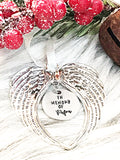 Large Angel Wing Ornament
