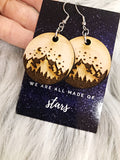 Wholesale | 1 pair | Clear Acrylic or White Birch Wood Mountain Earrings