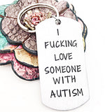 I Love Someone With Autism Keychain - Autism Mom Gifts
