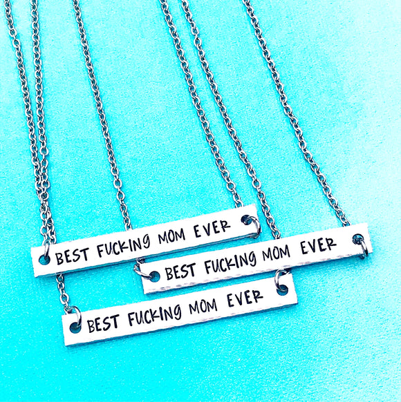 WHOLESALE best fucking mom ever necklaces - Sold in Lots Of 5 - Lasting Impressions CT
