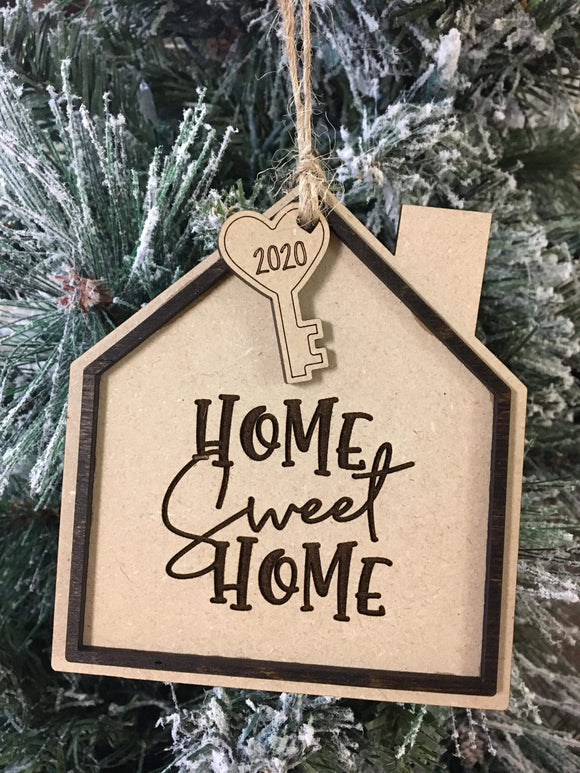 Home sweet home 2020 wood ornament