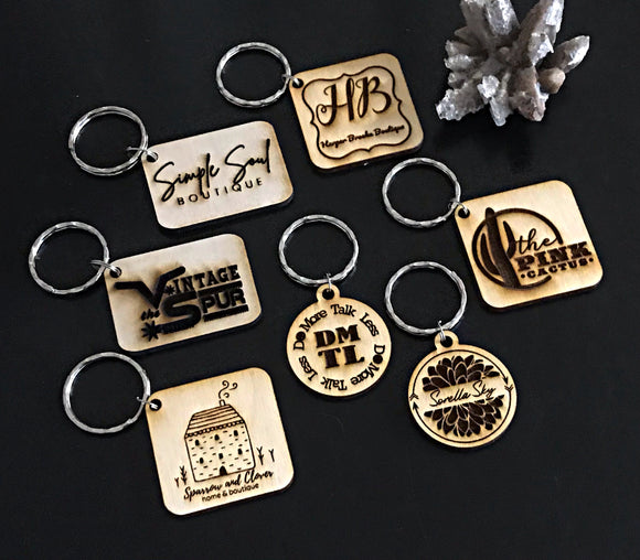 Wholesale | 1 pc | Your Logo on a Keychain - wood or acrylic