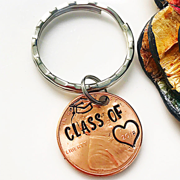 Class of 2018 Hand Stamped Penny, Graduation Gift, Graduation Penny, Grad Gifts for Him and Her - Lasting Impressions CT