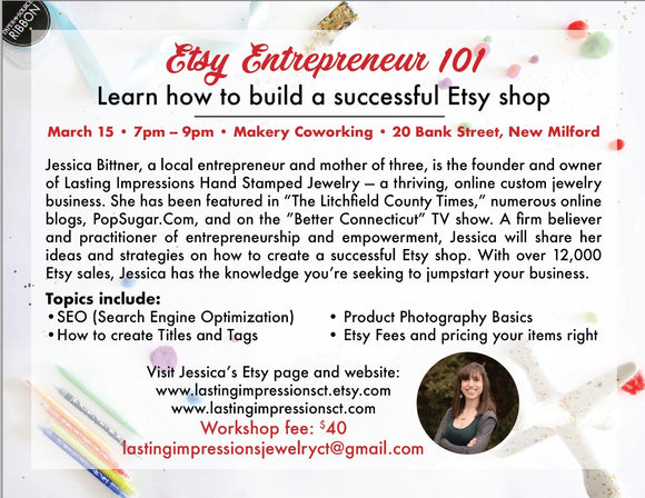 Etsy Entrepreneur Class 101 - Lasting Impressions CT