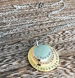 Layered Mixed Metal Stainless Steel Necklace for Grandma - Lasting Impressions CT