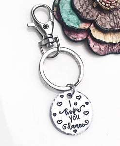I Hope You Dance Keychain Clip Dancer Gifts Dance Girl Ballet - Lasting Impressions CT