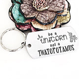 Be a unicorn not a twatopotamus funny hand stamped gift for friends - Lasting Impressions CT