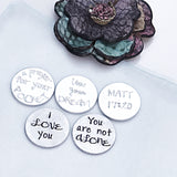 Pocket Tokens, Hand Stamped Coins, Inspirational Message, Kindness Coin - Lasting Impressions CT
