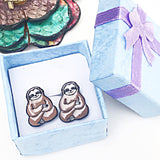 Sloth Enamel Earrings Sloth Jewelry Sloth Gifts Animals Sloth Lover - Lasting Impressions CT