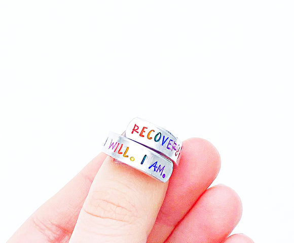 Rainbow Recovery Wrap Ring