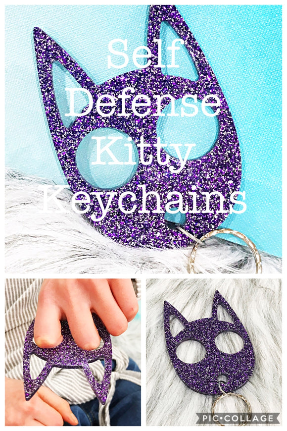 Self Defense Keychain - Kitty Cat Acrylic