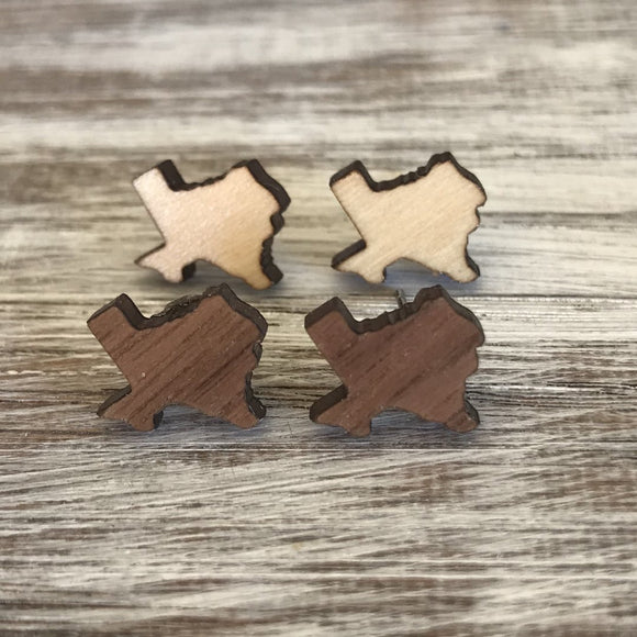 50 States - Wood Earrings - Lasting Impressions CT
