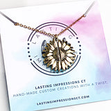 PREORDER - Sunflower You are my Sunshine Necklace