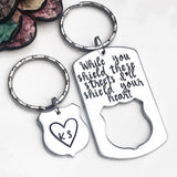 Police Keychain Set for Police Family-Hand Stamped and Personalized Gift - Lasting Impressions CT