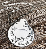 Your Wings Were Ready My Heart Was Not Personalized Necklace for Loss of Loved One - Lasting Impressions CT