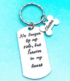 Dog Loss Memorial Pet Handstamped Remembrance Keychain - Lasting Impressions CT