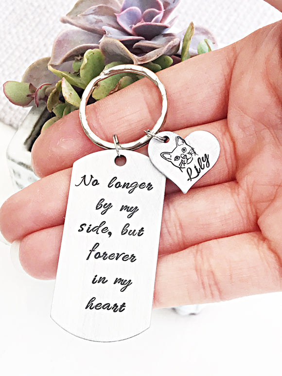 Cat Memorial Keychain - Pet Loss Gifts