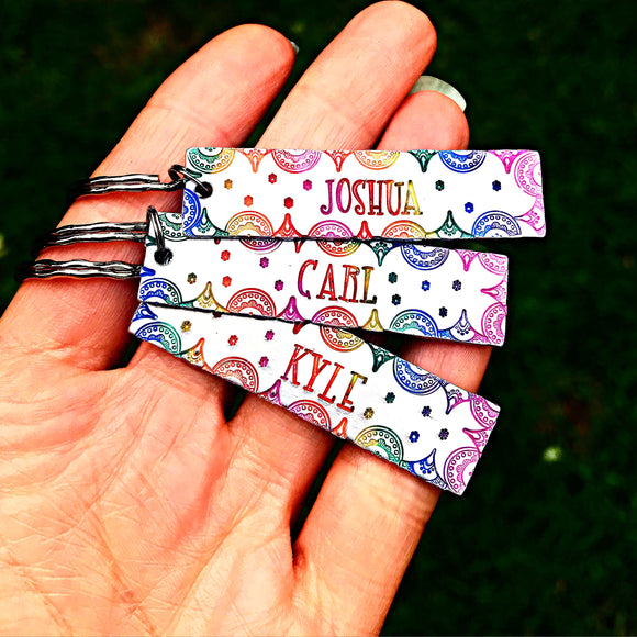 WHOLESALE | 1 Piece | Rainbow Word Keychain