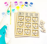 Personalized Wood Tic Tac Toe Game