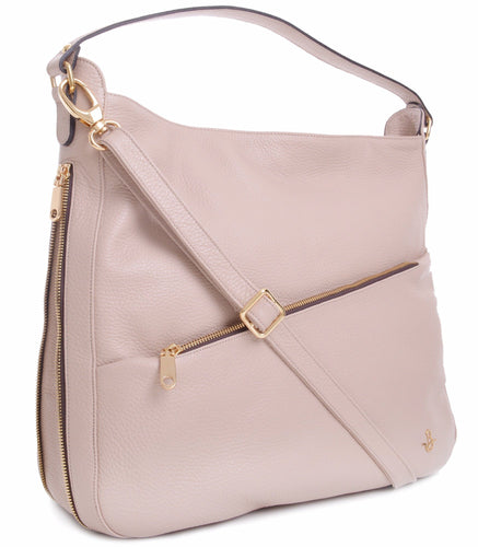 CARBOTTI 1750 Luxurious Italian Leather Shoulder Handbag - Beige