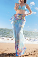 Large Summer Beach Shawl Scarf Cover Up - Blue Shell