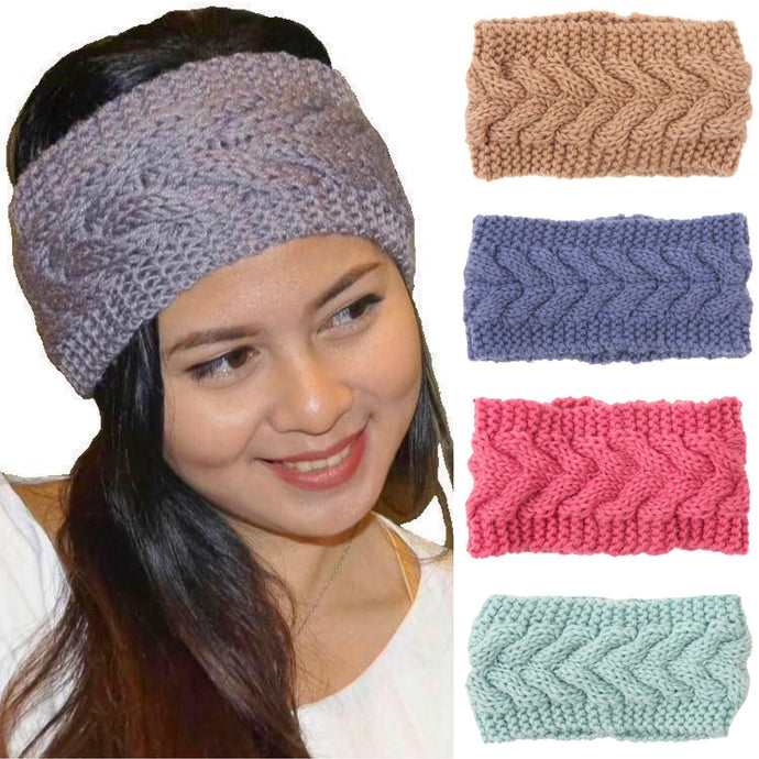 Winter Warm Wide Knitted Woolen Headband in 13 Colors