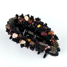 Large Hair Clip Claw - Black Multi